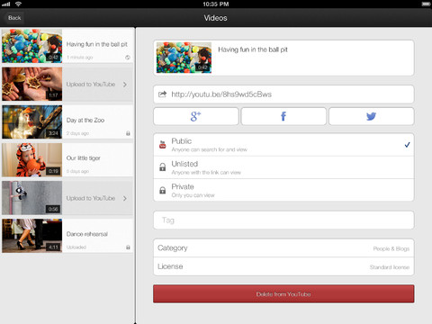 YouTube Capture 1.2 for iOS (iPad screenshot 004)