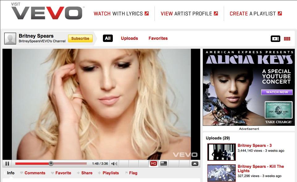 YouTube Vevo (screenshot 001)