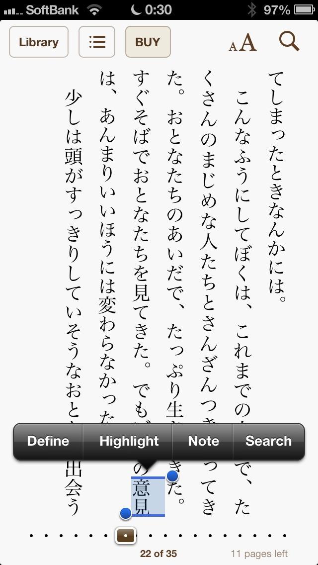 iBooks 3.1 (Japan screenshot)