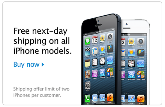 iphone shipping promo