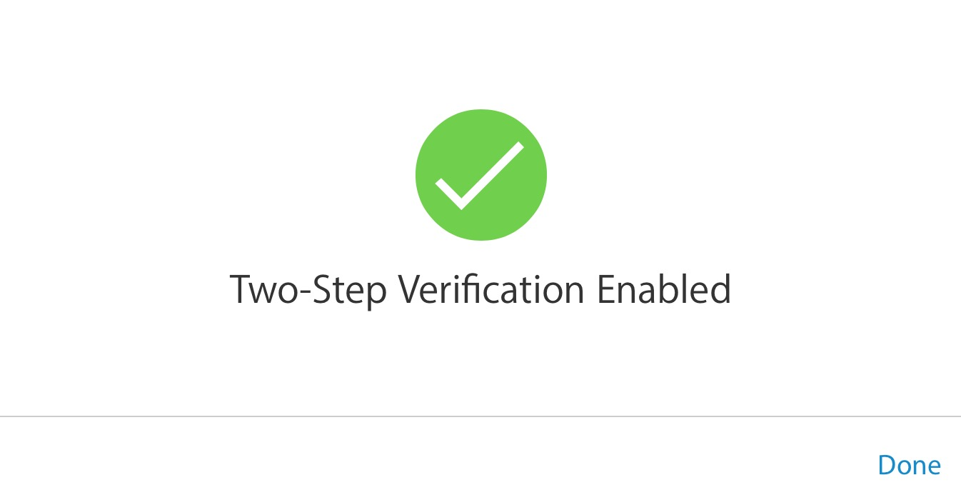 two step verification enabled