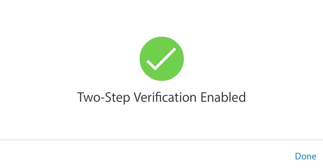 verificación de dos pasos habilitada