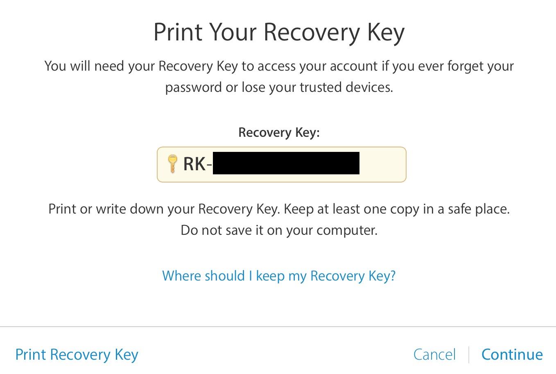 clave de recuperación de verificación en dos pasos
