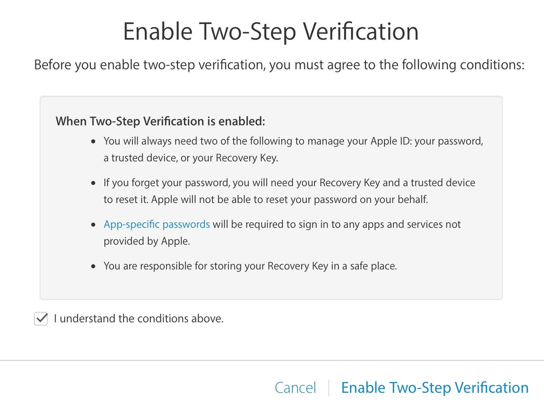 la verificación en dos pasos comprende las condiciones