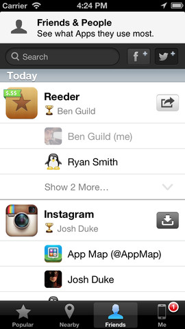 App Map 1.1 for OS (iPhone screenshot 002)