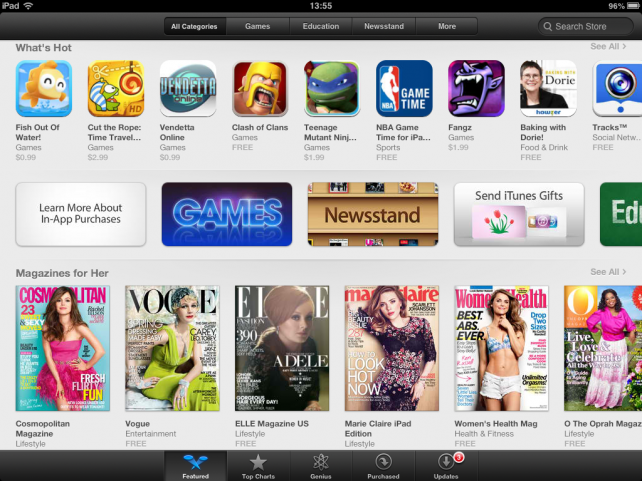 App Store (in-app purchases section 001)