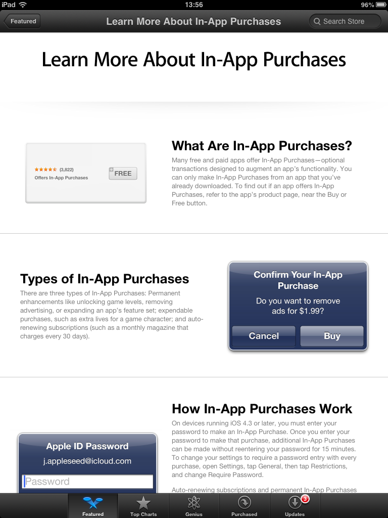 App Store (in-app purchases section 002)