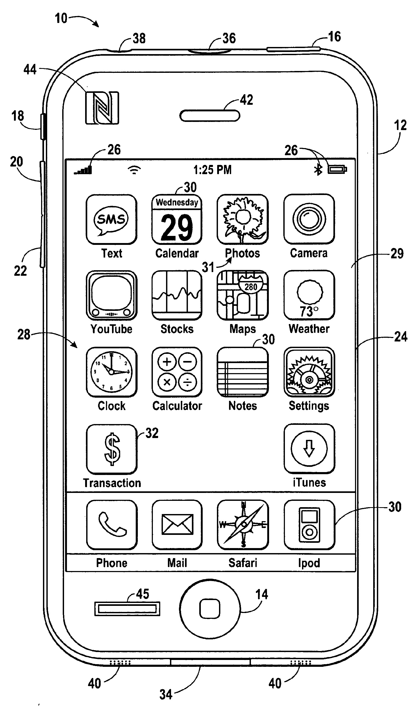 Apple iWallet patent (Transactions icon)