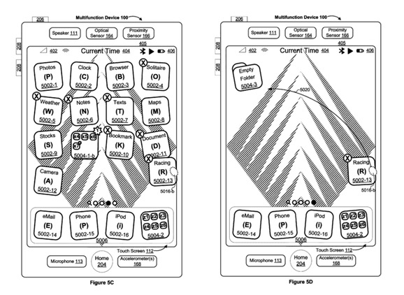 Apple patent iOS jiggle (drawing 003)