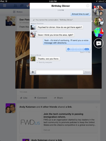 FAcebook 6.0 for iOS (iPad screenshot 004)