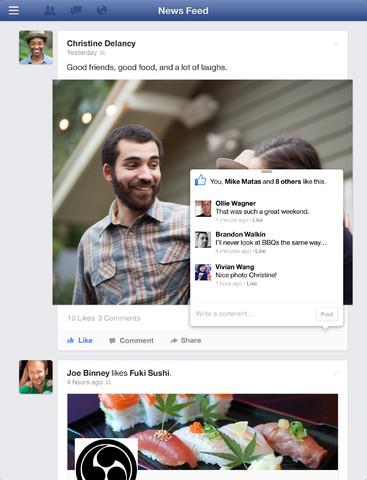 Facebook 6.0 for iOS (iPad screenshot 002)