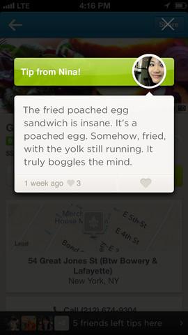 Foursquare 6.0 for iOS (iPhone screenshot 002)