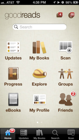 Goodreads 2.2.3 for iOS (iPhone screenshot 001)
