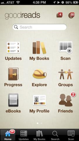 Goodreads 2.2.3 for iOS (iPhone screenshot 001)