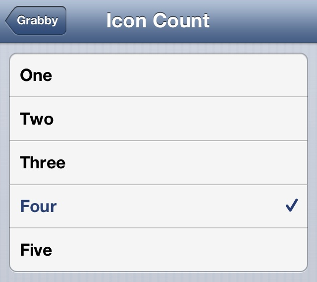 Grabby Update Icon Count