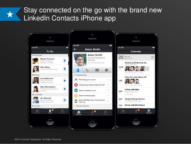 LinkedIn Contacts (iPhone 001)