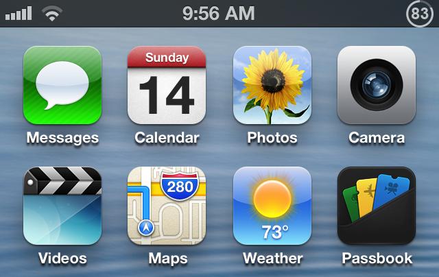 Live Battery Indicator 83 percent