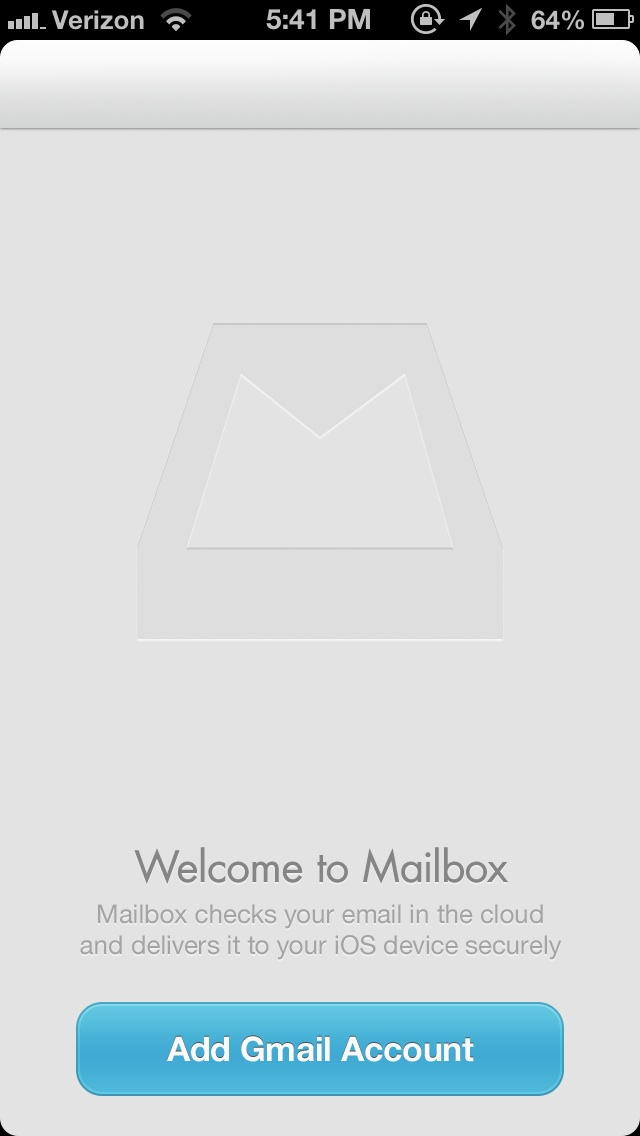 Mailbox Add Gmail Account