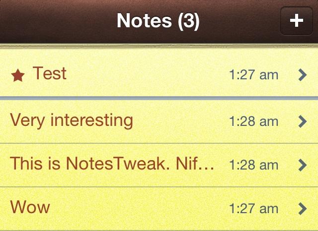 NotesTweak Notes