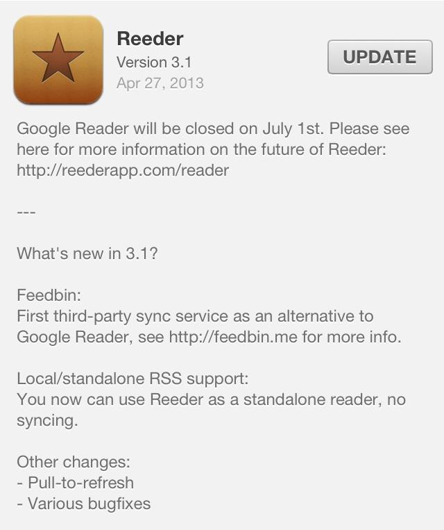 Reeder 3.1 Changelog