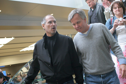 Ron Johnson and Steve Jobs at Fifth Avenue Store opening