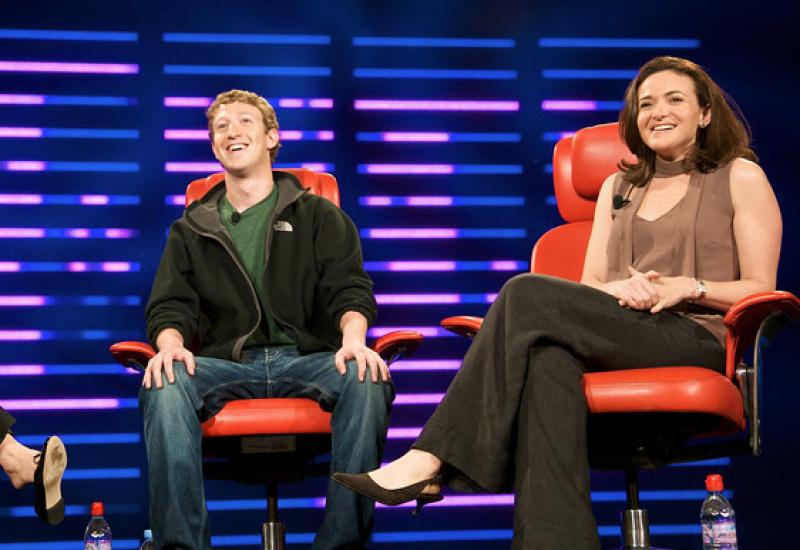 Sheryl Sandberg and MArk Zuckerberg
