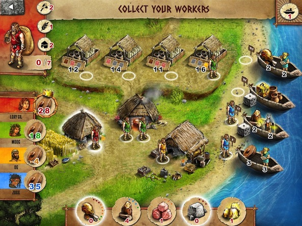 Stone Age: The Board Game builds empires on your iOS device
