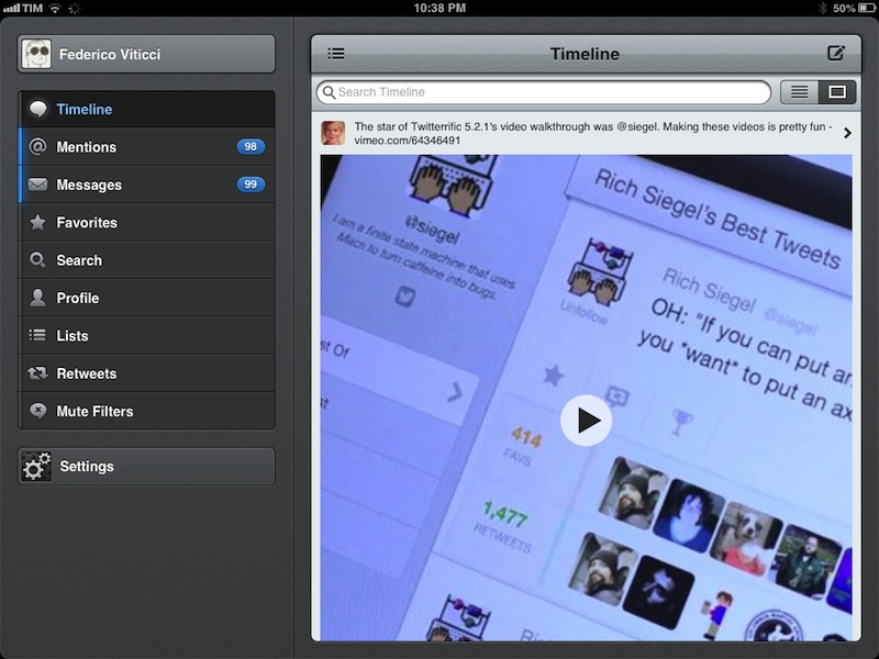 Tweetbot 2.8 for iOS (iPad screenshot, MacStories 001)
