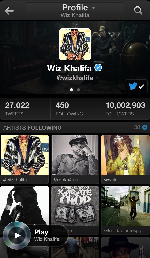 Twitter Music (iPhone screenshot 003)
