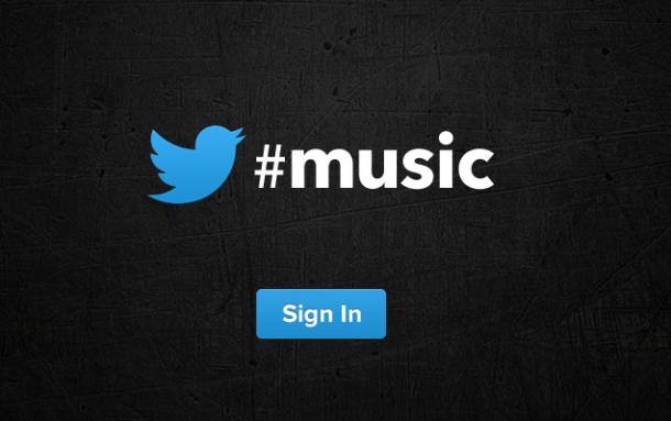 Twitter Music web teaser