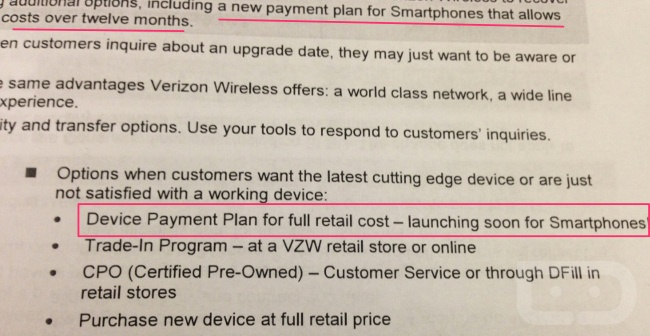 Verizon Device Payment Plan (Droid-life 001)