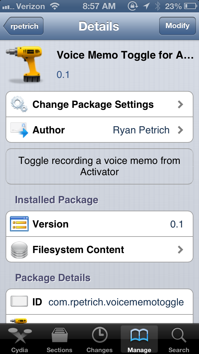 Voice Memo Toggle for Activator