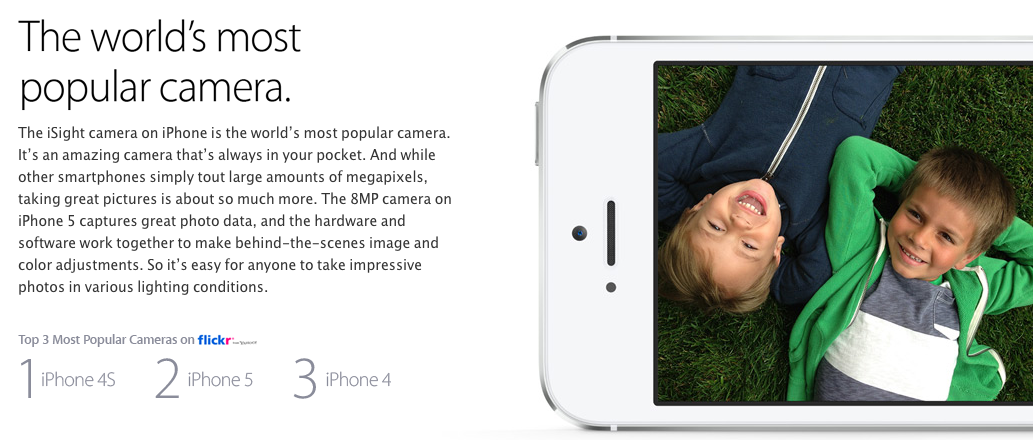 Why iPhone (most popular camera Flickr)