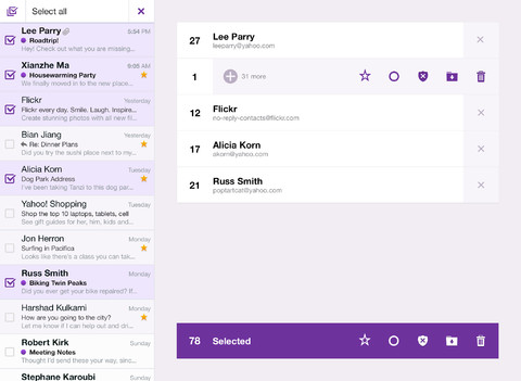 Yahoo Mail 1.5 for iOS (iPad screenshot 002)