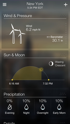 Yahoo Weather 1.0 for iOS (iPhone screenshot 004)