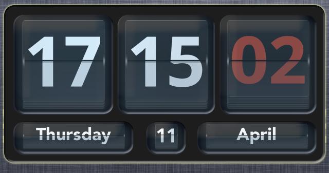flip clock widget
