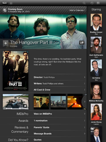 iMDB 3.2 for iOS (iPad screenshot 002)