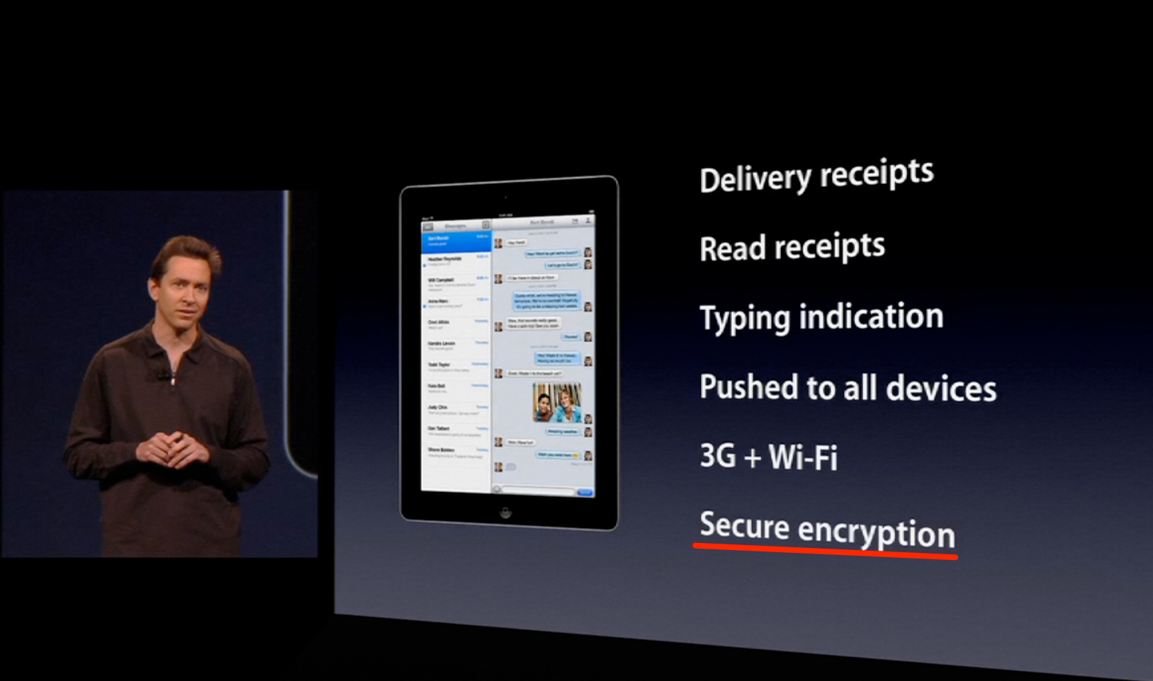iMessage secure encryption