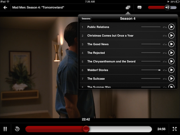 Netflix 4.0 is out with new episode selector for iPad and more