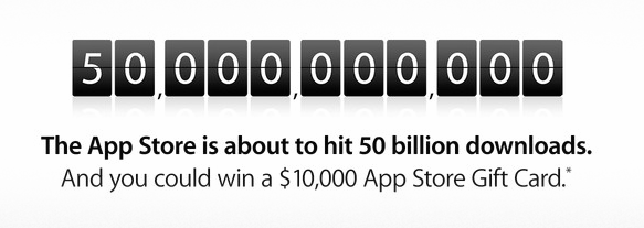 50B app downloads banner