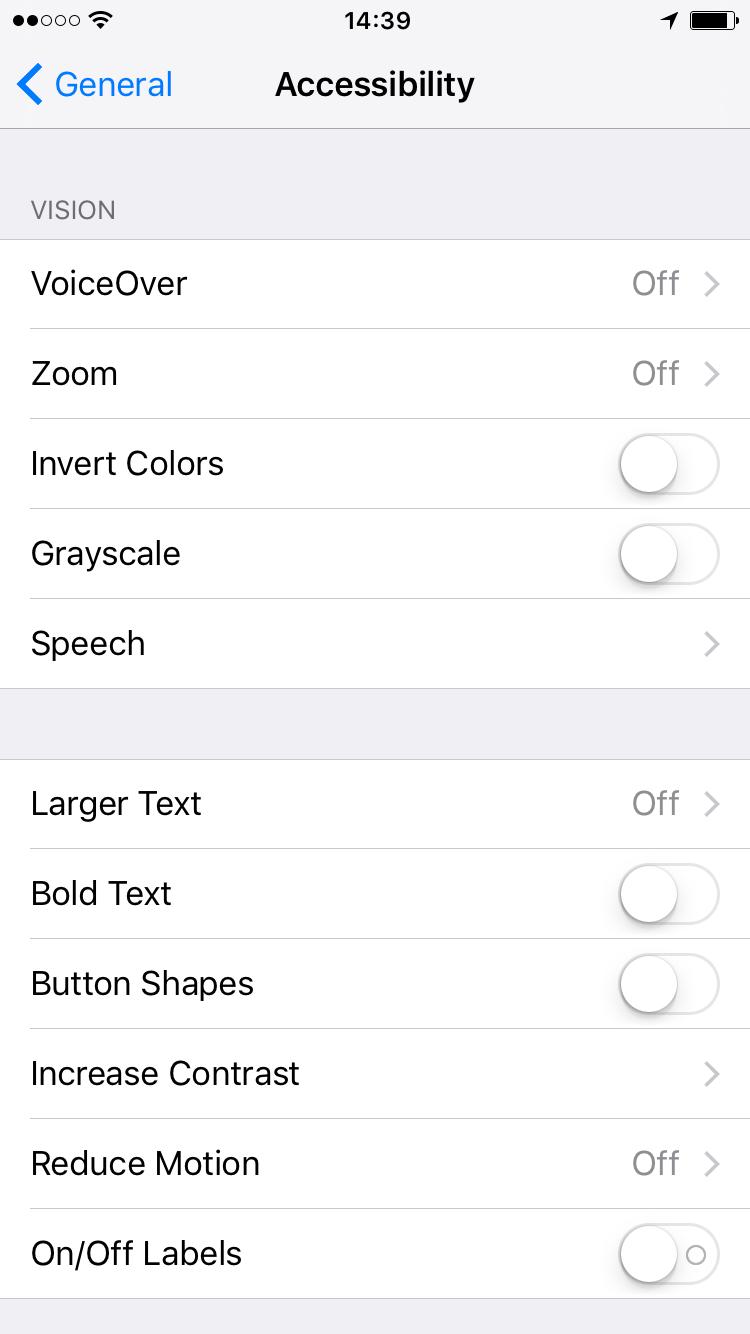Accesibilidad iOS