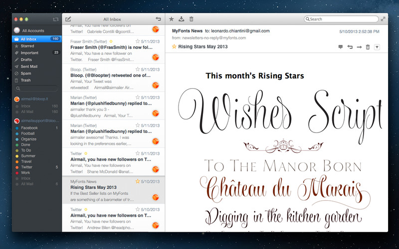 Airmail may be the next big thing for Mac email clients