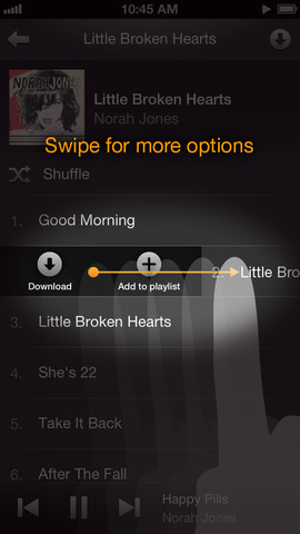 Amazon Cloud Player 2.1 for iOS (iPhone screenshot 004)