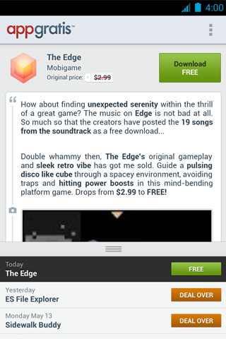 AppGratis for Android (screenshot 001)