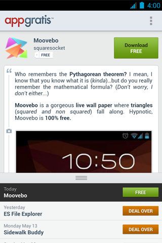 AppGratis for Android (screenshot 003)