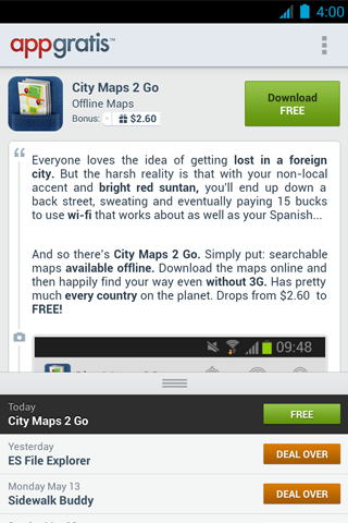 AppGratis for Android (screenshot 004)