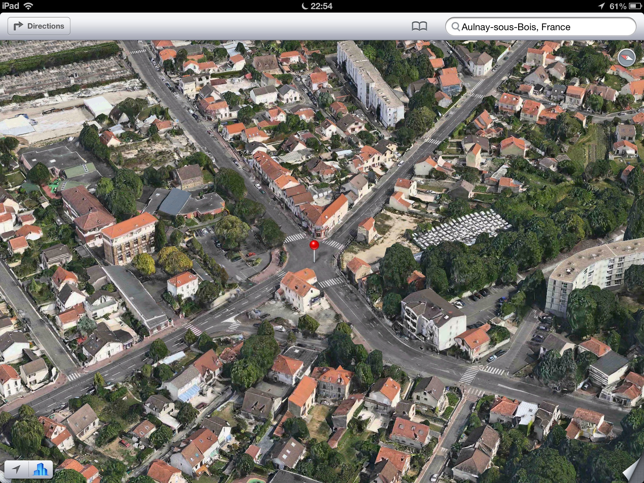 Apple Maps (Flyover, Aulnay-sous-Bois, France)