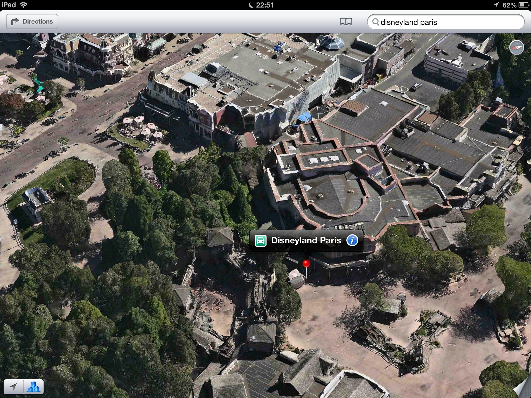 Apple Maps (Flyover, Disneyalnd, Paris)