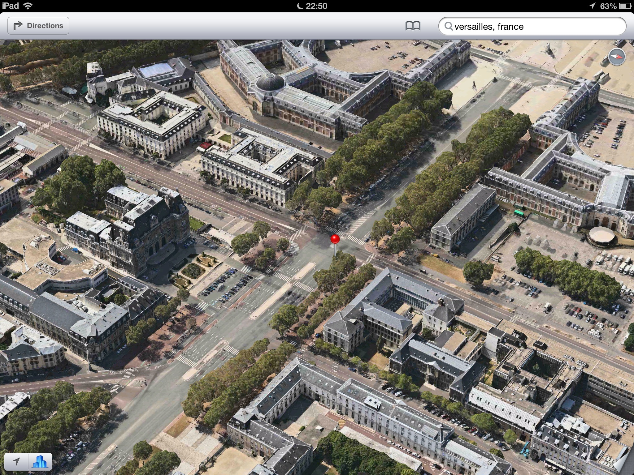 Apple Maps (Flyover, Versailles, France)