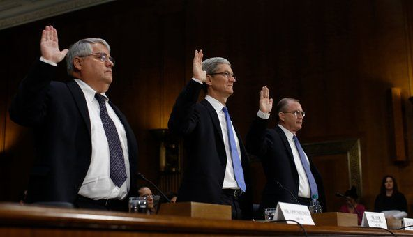 Apple execs swearing on tax reform hearing